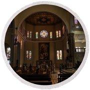 Iglesia Maria Auxiliadora - San Salvador Xix Round Beach Towel