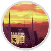 Iglesia Ni Cristo Sunset Cebu City Philippines Round Beach Towel