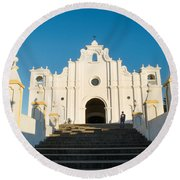 Iglesia San Andres Apostol - Apaneca 4 Round Beach Towel