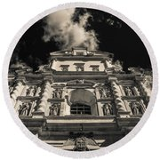 Iglesia San Francisco - Antigua Guatemala Bnw I Round Beach Towel