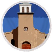 Iglesia San Jose 1922 Round Beach Towel