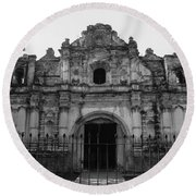Iglesia San Jose El Viejo - Antigua Guatemala Bnw Round Beach Towel