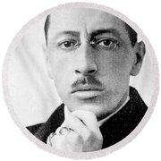 Igor Stravinsky, Russian Composer Round Beach Towel