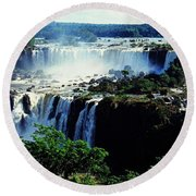 Iguacu Waterfalls Round Beach Towel