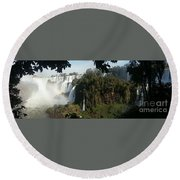 Iguazu Falls Panoramic View Round Beach Towel