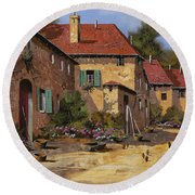 Il Carretto Round Beach Towel by Guido Borelli