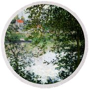Ile De La Grande Jatte Through The Trees Round Beach Towel