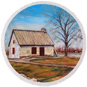 Ile Perrot House Round Beach Towel