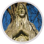 I'll Just Blend In - Hail Mary  Round Beach Towel