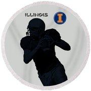 Illinois Football Round Beach Towel