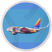 Illinois One Departing Dca Round Beach Towel