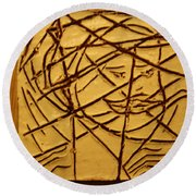 Illuminate - Tile Round Beach Towel