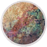 Illuminated Valley II Diptych Round Beach Towel