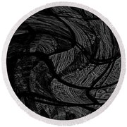 Illusion 005 Round Beach Towel