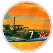 Ilyushin II 2m3 Russian Ground Attack Aircraft Round Beach Towel