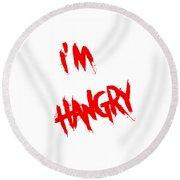 I'm Hangry Round Beach Towel