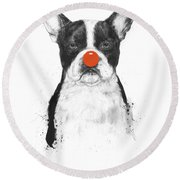 I'm Not Your Clown Round Beach Towel