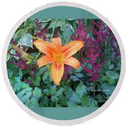Image Included In Queen The Novel - Late Summer Blooming In Vermont 23of74 Enhanced Round Beach Towel