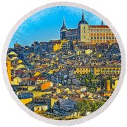 Image Of Portugal From The Road Round Beach Towel