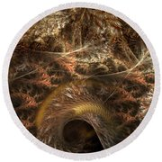 Image Of The Organism Round Beach Towel