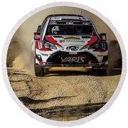 imagejunky_KB - RallyRACC WRC Spain - Esapekka Lappi / Janne Ferm Round Beach Towel