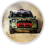 imagejunky_KB - RallyRACC WRC Spain - Gorban / Larens Round Beach Towel