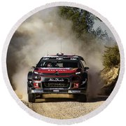 imagejunky_KB - RallyRACC WRC Spain - Lefebvre / Patterson Round Beach Towel
