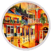 Images Of The French Quarter Round Beach Towel
