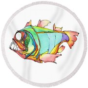 Imaginary Fish #1 Round Beach Towel