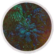 Imagination Leafing Out Round Beach Towel