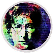 Imagination Of A Song Man Round Beach Towel