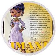 Imani, The Visionary Round Beach Towel