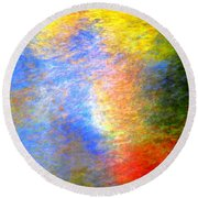 Imerging From Darkness To Lights Round Beach Towel