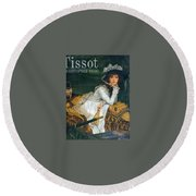 img216 Jacques Joseph Tissot Round Beach Towel