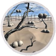 Imm Plants Round Beach Towel
