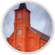 Immaculate Conception Catholic Church Round Beach Towel