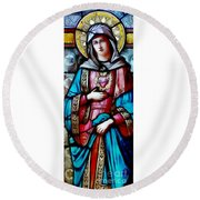 Immaculate Heart Of Mary Round Beach Towel