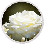 Immaculate Rose Round Beach Towel