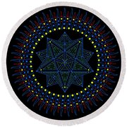Immediacy. Captured. Round Beach Towel