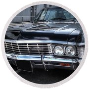 Impala - Supernatural Round Beach Towel