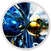 Impassioned Abstract Round Beach Towel