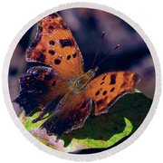 Imperfect Satyr Comma Round Beach Towel