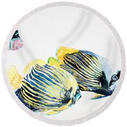Imperial Angels Round Beach Towel