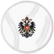 Imperial Coat Of Arms Of The Empire Of Austria-hungary 1815 Transparent Round Beach Towel