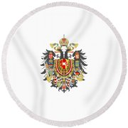 Imperial Coat Of Arms Of The Empire Of Austria-hungary Transparent Round Beach Towel