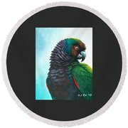 Imperial Parrot Round Beach Towel