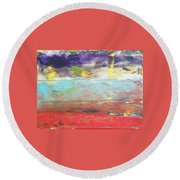 Impression Collection I In Sight Of Land  Round Beach Towel
