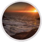 Impression Round Beach Towel