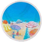 Impressionist Beach Painting Round Beach Towel