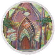 Impressionist Cooper Chapel Round Beach Towel